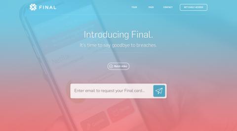 Final Card – Landing Page