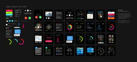 FREEBIE: Apple Watch GUI PSD