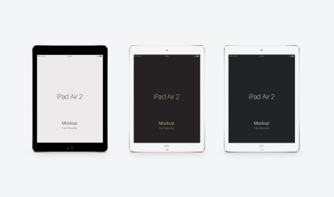 FREEBIE: Apple iPad Air 2 PSD Mockup