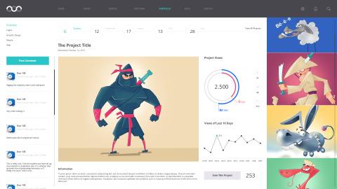 FREEBIE: Portfolio Theme PSD