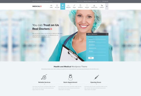 FREEBIE: Medical PSD Theme