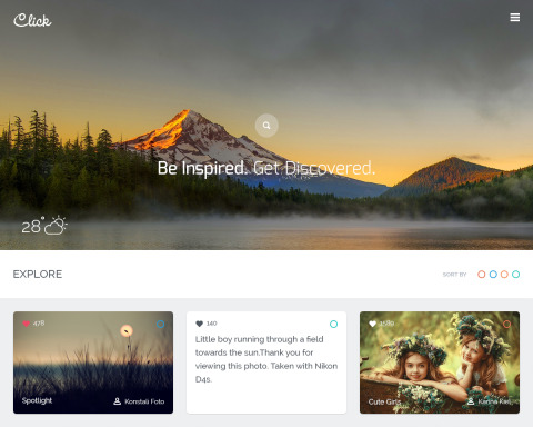 FREEBIE: Click – Photography Community PSD