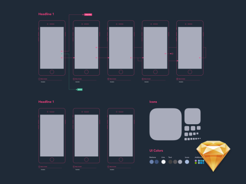 FREEBIE: Diagram Template Sketch File