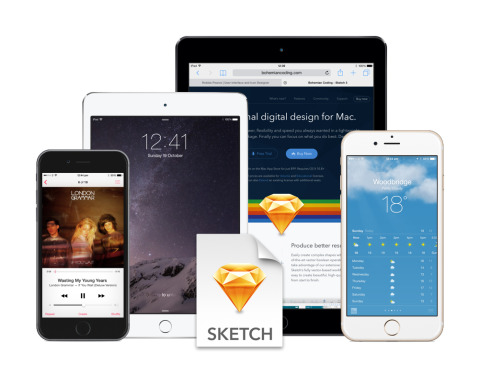 FREEBIE: Fully Scaleable Apple iOS Devices for Sketch.app