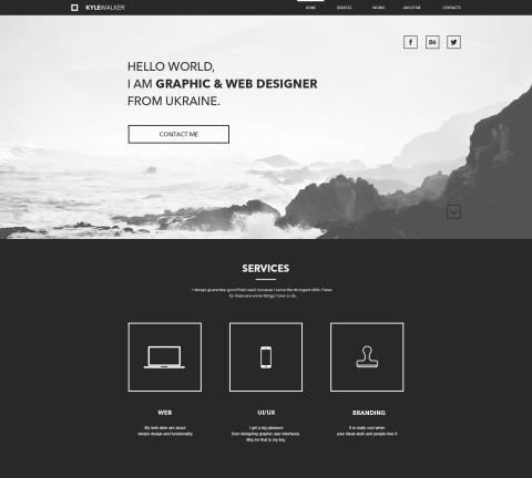 FREEBIE: Portfolio Website PSD Template