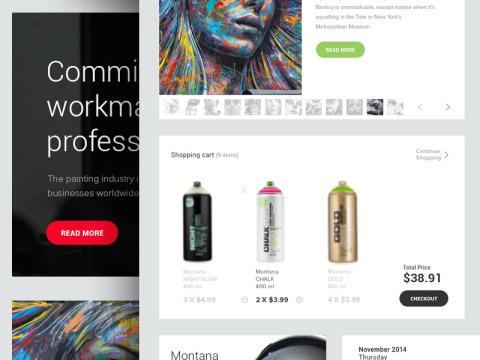 FREEBIE: Flat UI Kit PSD