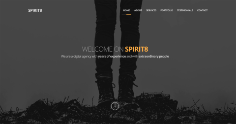 FREEBIE: Spirit8 – Digital Agency One Page Template