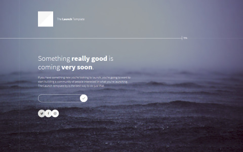 FREEBIE: Launch – HTML Template