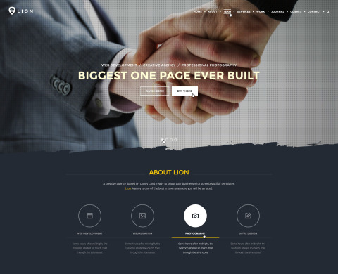 PREMIUM: Lion – Multipurpose One Page PSD Template