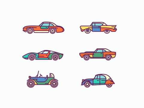 FREEBIE: Retro Car Icons Set