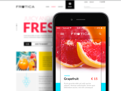 FREEBIE: Frutica – E-Commerce Theme Concept